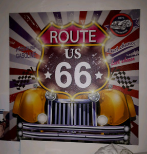 "Famous "" Route 66 "" Canvas Painting"