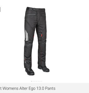 Women's motorcycle pants, size XL, fits size 14, 5ft.6in.