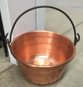 Vintage  hanging copper pot