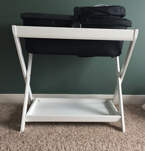 White Uppababy bassinet stand