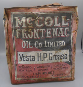 RARE 1927's VINTAGE McCOLL-FRONTENAC GREASE CAN RED INDIAN