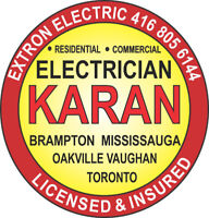 Electrician in Brampton Mississauga Licensed Electrician ( ESA )