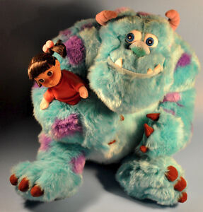 Disney Store Monsters Inc SULLY & BOO Plush Toy