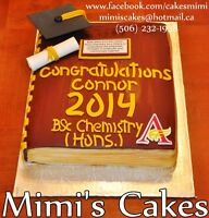 Reserve your graduation cake with Mimi's Cakes!