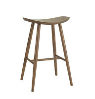 Modern Mid-Century Scandinavian Wooden Bar Stool Wood Barstool