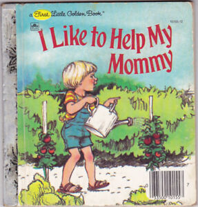 I LIKE TO HELP MY MOMMY ~ Vintage Children's First Little Golden