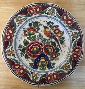 Assiette décorative de Delft, Hollande (peinte à la main)