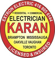 Electrician in Brampton Mississauga  Licensed Electrician * ESA*