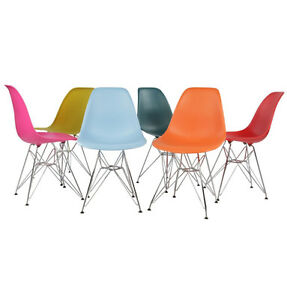 $59 Eames Style Eiffel Dining Chair | Modern Mid-Century Design