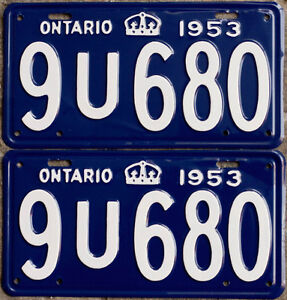 YOM Licence Plates For Your Old Auto - Ministry Guaranteed! Cornwall Ontario image 1