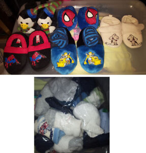 Baby Boys Slippers and Socks Lot (Take all for $10)