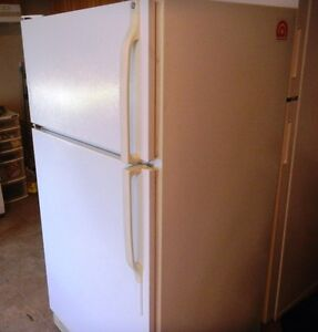 """GE"" TWO DOOR WHITE FRIDGE-EXCELLENT CONDITION"