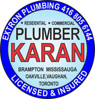 Plumber in Brampton, Mississauga Vaughan Licensed and Insured