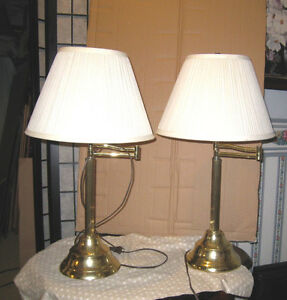 2 Table Lamps with moving top in good  condition