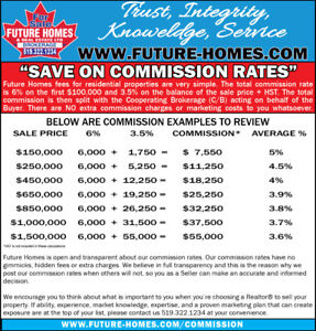 FUTURE HOMES COMMISSION RATES