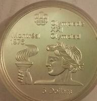 $5 Silver Coin 1976 Olympics Montreal