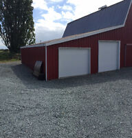 Commercial barn storage spaces available for rent