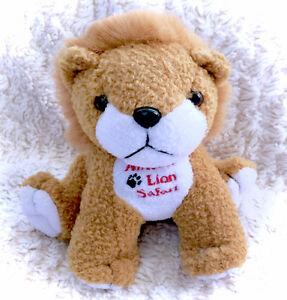 African Lion Safari Plush Lion Stuffed Animal  Plushie Souvenir