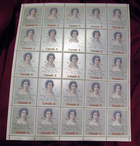 Queen Elizabeth II Royal Visit 1973 8 Cent Stamp Full Mint Sheet Kitchener / Waterloo Kitchener Area image 1