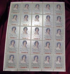 Queen Elizabeth II Royal Visit 1973 8 Cent Stamp Full Mint Sheet