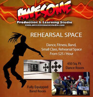 STUDIO SPACE FOR RENT! Great for rehearsals/meetings & more