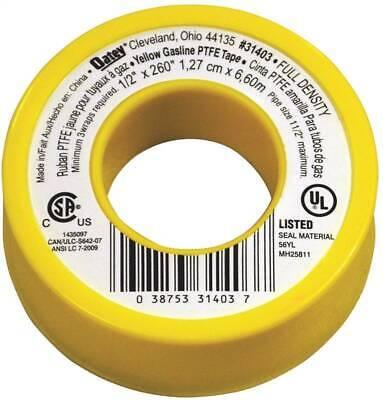 Oatey 31403 Thread Seal Tape Ptfe Yellow 12 X 260