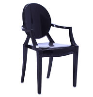 $75 ON SALE | Starck Style Louis Ghost Armchair | Chair Chaise