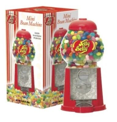 ❤️Jelly Belly MINI BEAN MACHINE Collectible Die-Cast Dispenser with Glass Dome