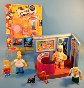 THE SIMPSONS Talking Intelli-tronic Figures Toys Playset lot