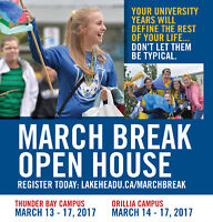 Lakehead Universy March Break Open House