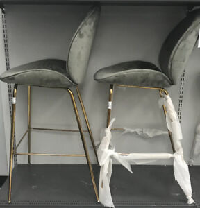 Grey and gold counter / bar stools - brand new!