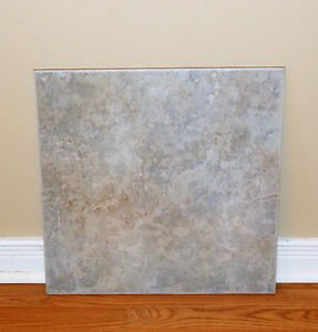 "18"" x 18"" Ceramic Floor or Wall Tile Grey / Beige"