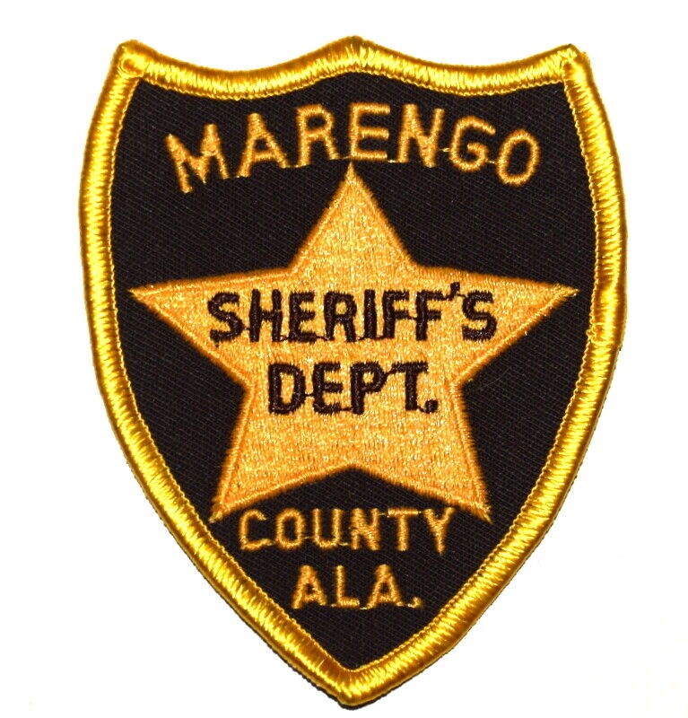 "MARENGO COUNTY ALABAMA AL Sheriff Police Patch VINTAGE OLD MESH 3.75"" ~"