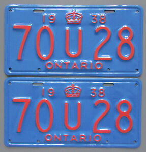 Vintage YOM License Plates - MTO Approval Guaranteed London Ontario image 1