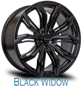 Roues (Mags) Black Widow (16-17-18-20'') plusieurs bolt pattern.