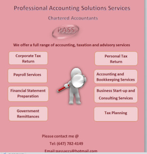 Chartered Accountant -  Accounting & Tax Services
