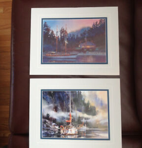 Matted Prints Nautical 11x14 inches
