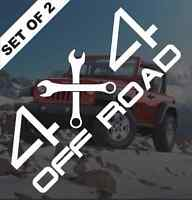 4x4 Off Road Vinyl Decal Bumper Sticker Jeep Dodge Ram F150 Ford