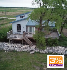 Renovated lakefront cottage in Twin Lakes Beach ~by 3% Realty