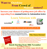 LEARN SELENIUM FROM AUTOMATION SPECIALIST/INTERVIEW PREP/CALLNOW