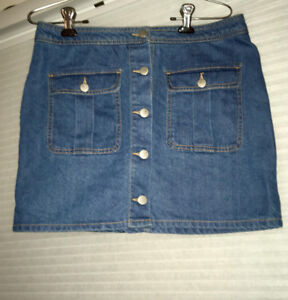 Large Button Down Jean Skirt