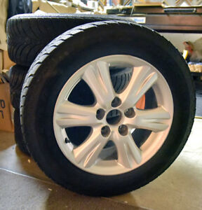 Winter tires /Lexus Toyota Wheels Set of 4  Good Cond. no issues