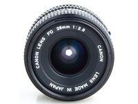 canon fd 28mm 2.8 lens