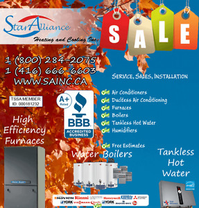 |New FURNACES and BOILERS ** end of season PROMO **