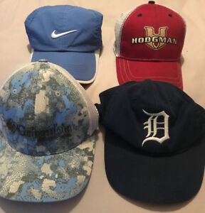 **FOUR MEN'S BASEBALL STYLE HATS FOR SALE**