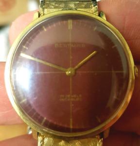 Rare vintage Bertmar mens mechanical swiss watch