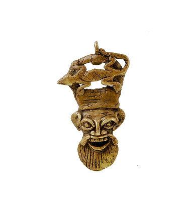Mask African Bamoun Ancestor Gecko Door Keys B10 C