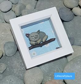 Handmade Mini Pebble Art Frames