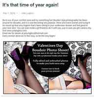 Womens Boudoir Photography - Valentines Special