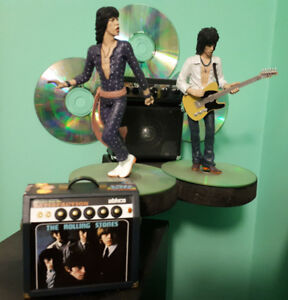 Mick Jager and Keith Richards - Rollingstones collectable figure